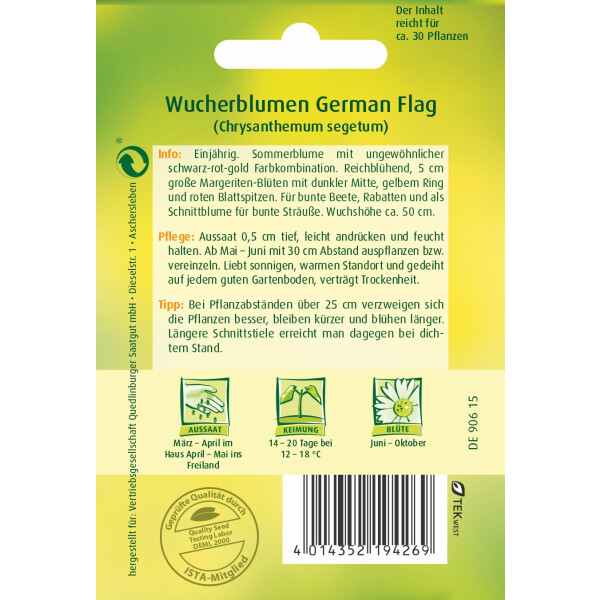 Wucherblume German Flag