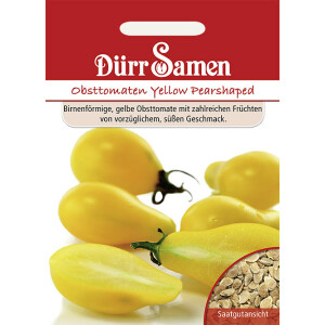 Obst-Tomaten Yellow Pearshaped
